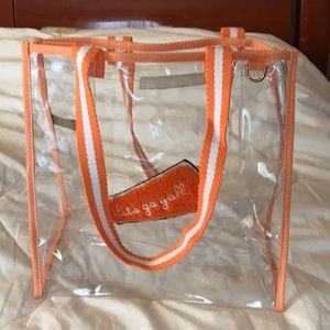 Handbags - New Draper James clear tote Let's Go Ya'll